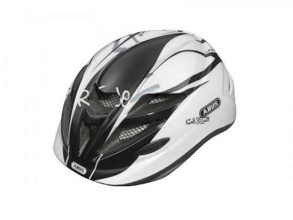 Abus Hubble Junior Cykelhjelm, Black/White