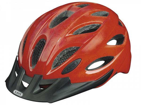 Abus Lane-U Visor Cykelhjelm Zoom Cherry Red