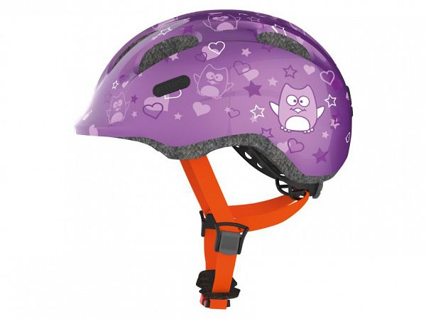 Abus Smiley 2.0 Cykelhjelm, Purple Star