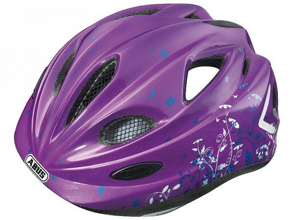 Abus Super Chilly Børne Cykelhjelm Garden Purple