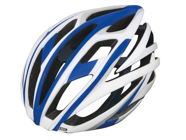 Abus Tec-Tical Pro v.2 Cykelhjelm hvid/blå, medium (54-58 cm)