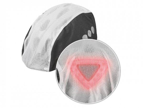 Abus toplight regnovertræk til hjelm, sort/hvid, medium/large