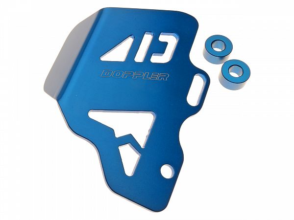 Accessories - Shield for brake master, rear - blue - Doppler