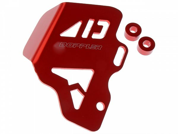 Accessories - Shield for brake master, rear - red - Doppler