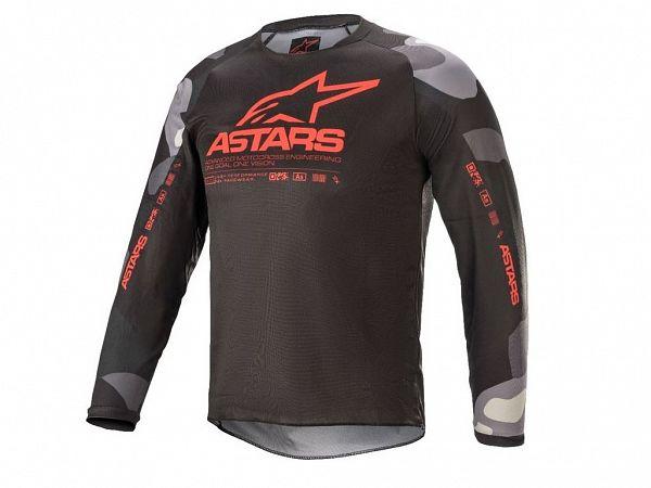 Alpinestars Racer Junior Jersey, Camo / Red