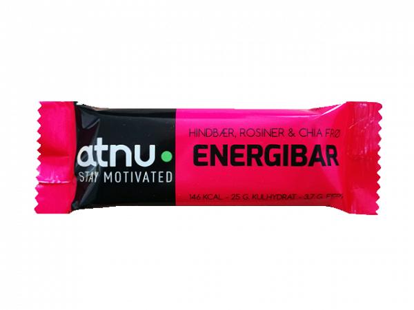 ATNU Energybar Hindbær, 40g (Udløb: 04. april 2019)