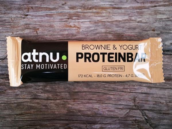 ATNU Proteinbar Brownie/Yoghurt, 50g (Udløb: 08. juni 2018)