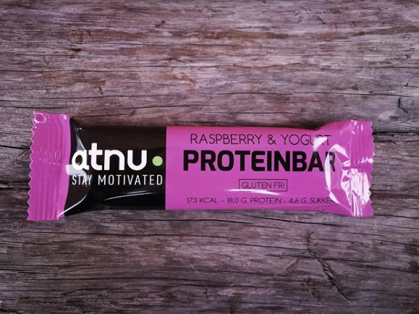 ATNU Proteinbar Hindbær/Yoghurt, 50g (Udløb: 08. juni 2018)