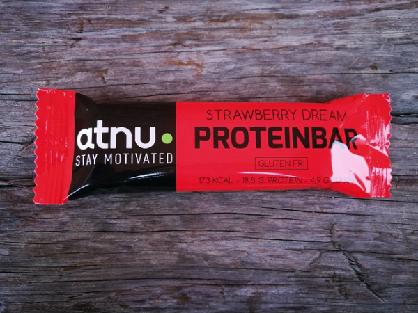 ATNU Proteinbar Jordbær, 50g (Udløb: 09. juni 2018)