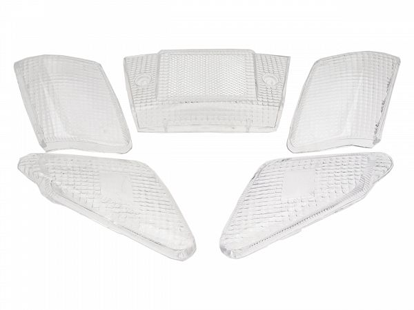 Bag- og blinklygteglas - klar