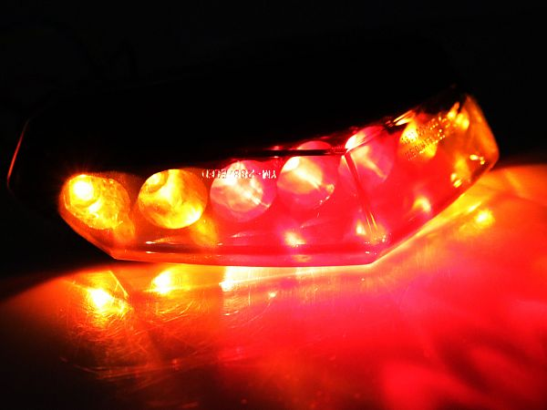 Baglygte med blink - gul/rød/tonet - TunR