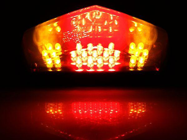 Baglygte med blinklys LED universal