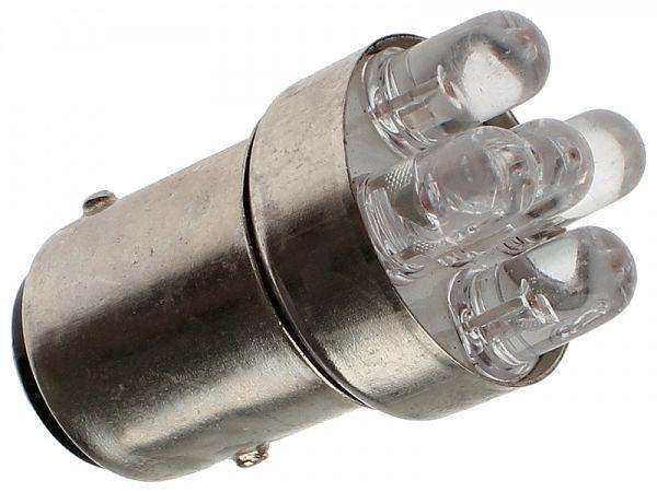Baglygtepære - BAY15D LED 12V, 21/5W