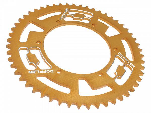 Bagtandhjul, guld - 53T - ø108mm - Doppler