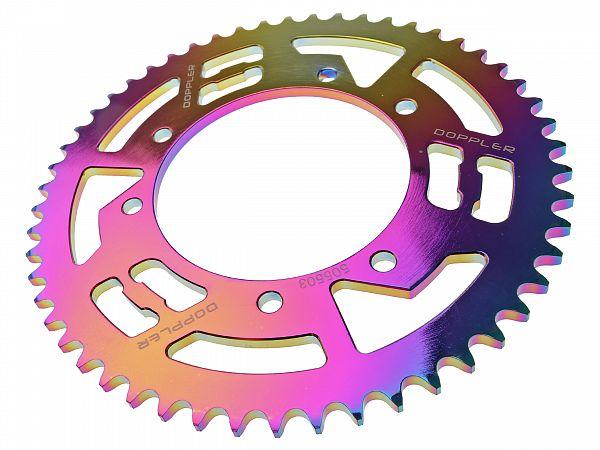 Bagtandhjul, neo-chrome - 53T - ø105mm - Doppler