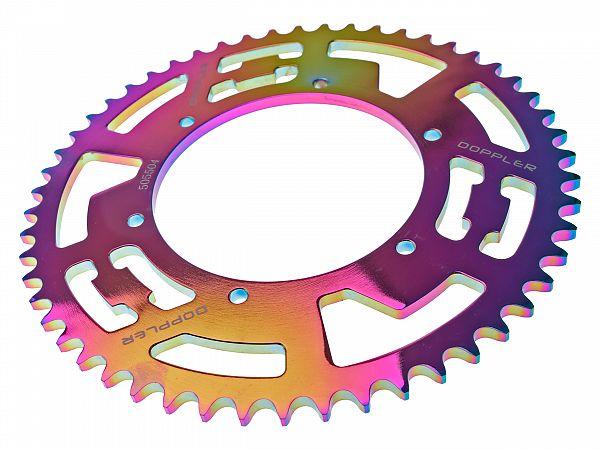 Bagtandhjul, neo-chrome - 53T - ø108mm - Doppler