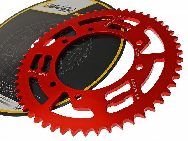 Bagtandhjul, rød - 53T - ø105mm - Doppler