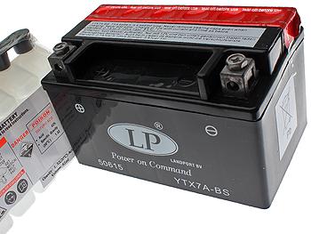 Batteri - 12V 6Ah YTX7A-BS
