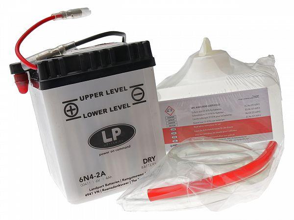 Batteri - 6V 4,2Ah 6N4-2A