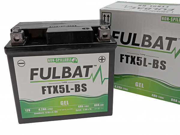 Batteri - Fulbat GEL 12V 4Ah YTX5L-BS/FTX5L-BS