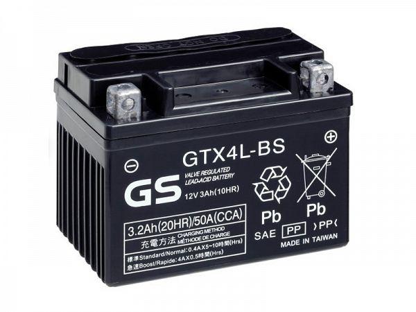 Batteri - GS Yuasa 12V 3Ah GTX4L-BS - originalt