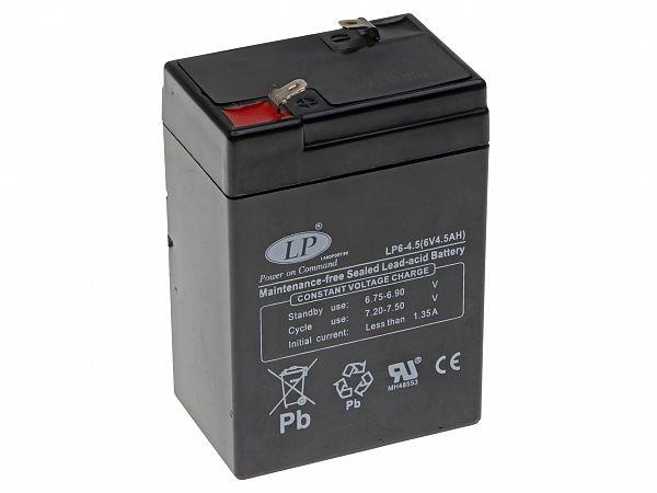 Batteri - LP - GEL 6V 4.5Ah