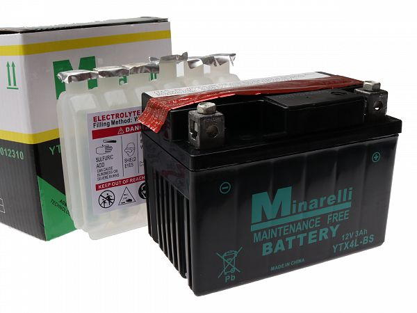 Batteri - Motorparts 12V 4Ah YB4L-B
