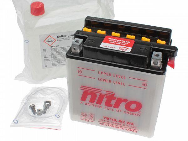 Batteri - Nitro 12V 11Ah YB10L-B2
