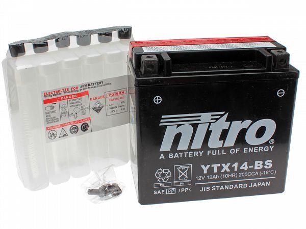 Batteri - Nitro 12V 12Ah YTX14-BS