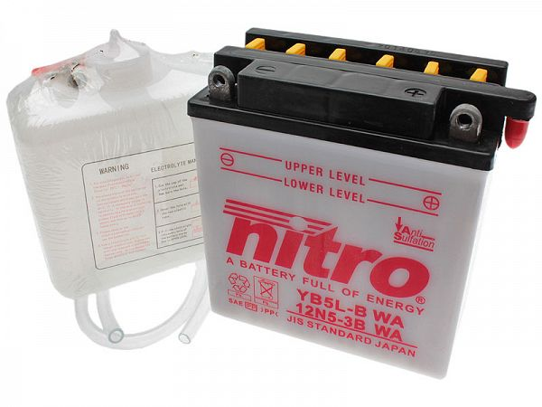Batteri - Nitro 12V 5Ah YB5L-B-WA