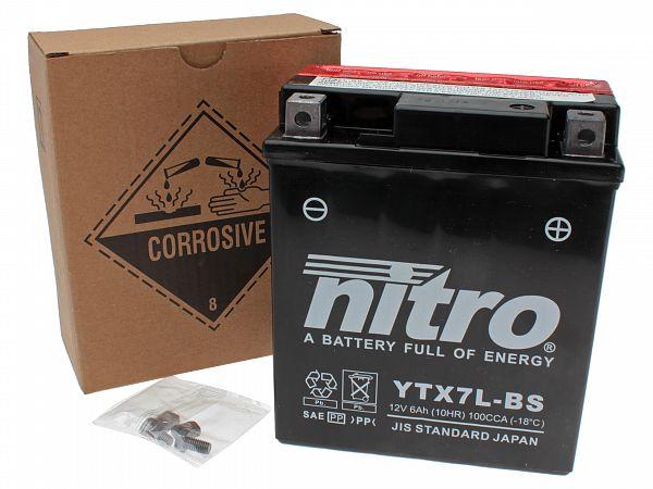 Batteri - Nitro 12V 6Ah YTX7L-BS