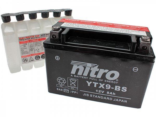 Batteri - Nitro 12V 8Ah YTX9-BS