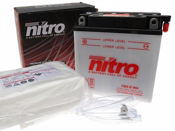 Batteri - Nitro 12V 9Ah YB9-B