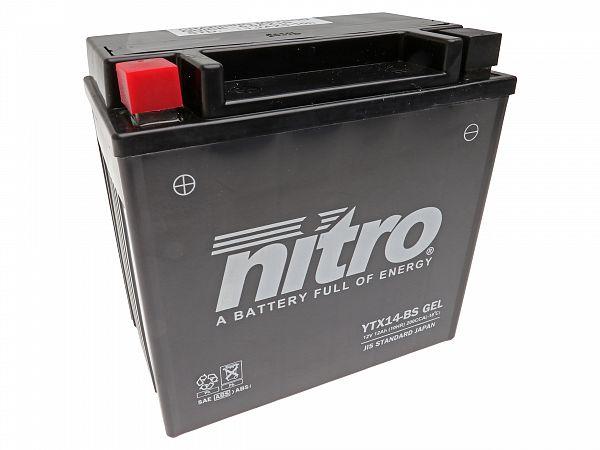 Batteri - Nitro GEL 12V 12Ah YTX14-BS