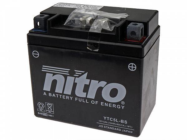 Batteri - Nitro GEL 12V 5Ah YTC5L-BS
