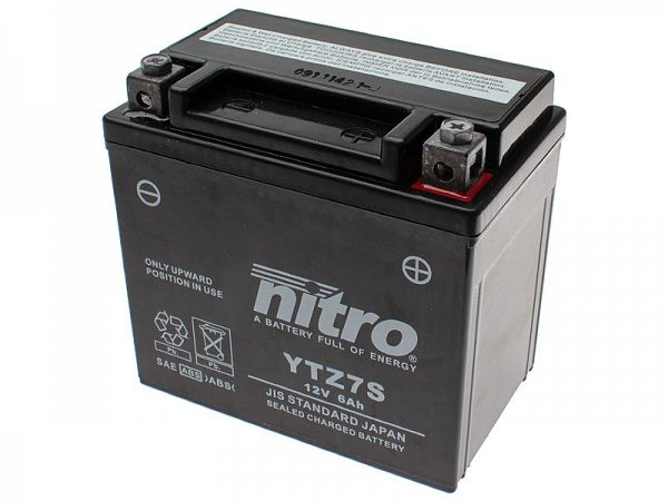 Batteri - Nitro GEL 12V 6Ah YTZ7-S