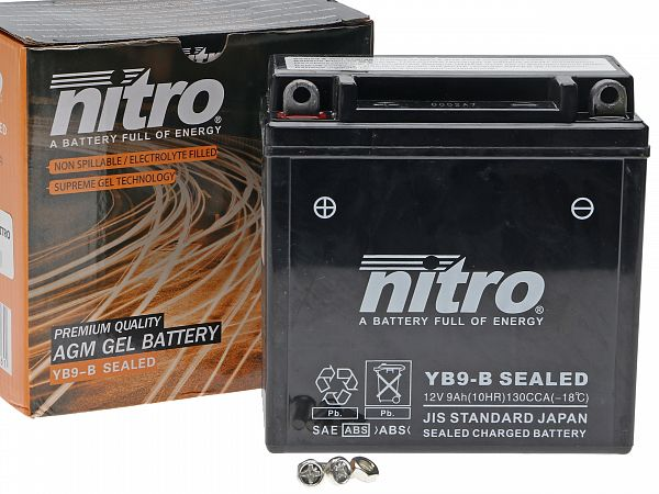 Batteri - Nitro GEL 12V 9Ah NB9-B