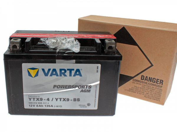 Batteri - Varta 12V 8Ah YTX9-4 / YTX9-BS