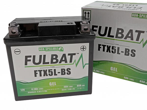 Battery - Fulbate GEL 12V 4Ah YTX5L-BS / FTX5L-BS