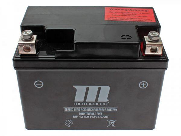 Battery - Motoforce 12V 5Ah YB4L-B