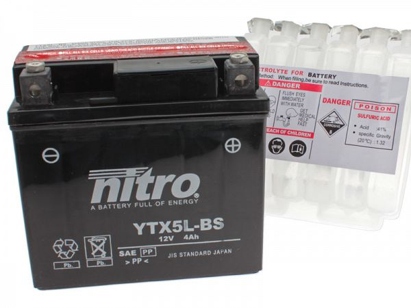 Battery - Nitro 12V 4Ah YTX5L-BS