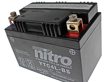 Battery - Nitro GEL 12V 4Ah YTC4L-BS