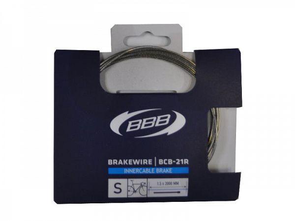BBB BCB-21R Bremsewire, rustfri, pærenippel (1.5 x 2000 mm)