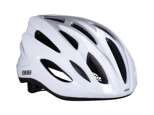 BBB Condor Hvid/Sølv Cykelhjelm