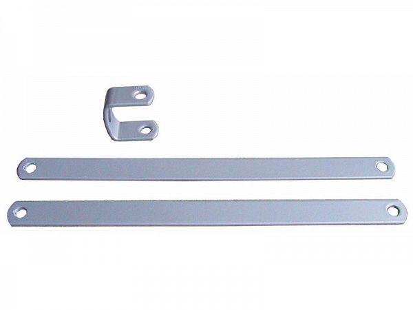 Beslag til bagagebærer, 16cm, sølv