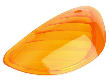 Blinkglas, venstre for - orange