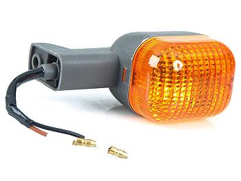 Blinklygte, bag højre - gråt plast, orange glas - original