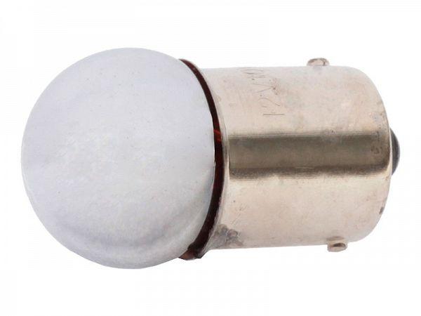 Blinklygtepære - BA15S 12V, 10W - chrom