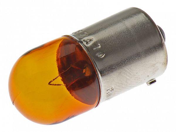 Blinklygtepære - BA15S 12V, 10W - orange - original