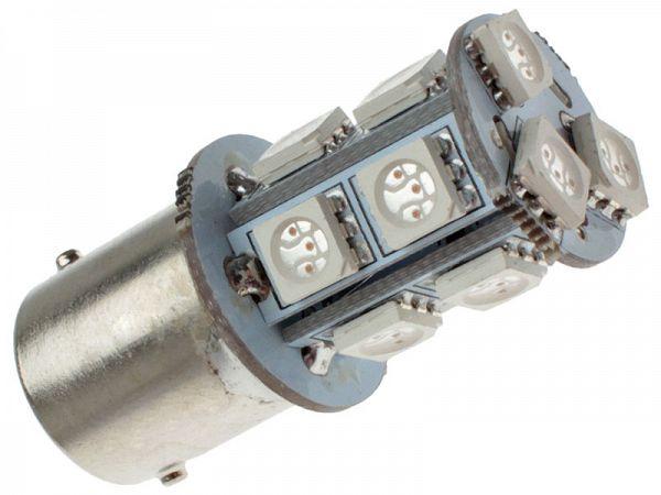 Blinklygtepære - BA15S SMD LED 12V, 3,3W - orange